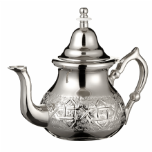 Moroccan Silver Teapot Integrated Filter Handle Cover Engraved  XL Extra Large 1 Litre